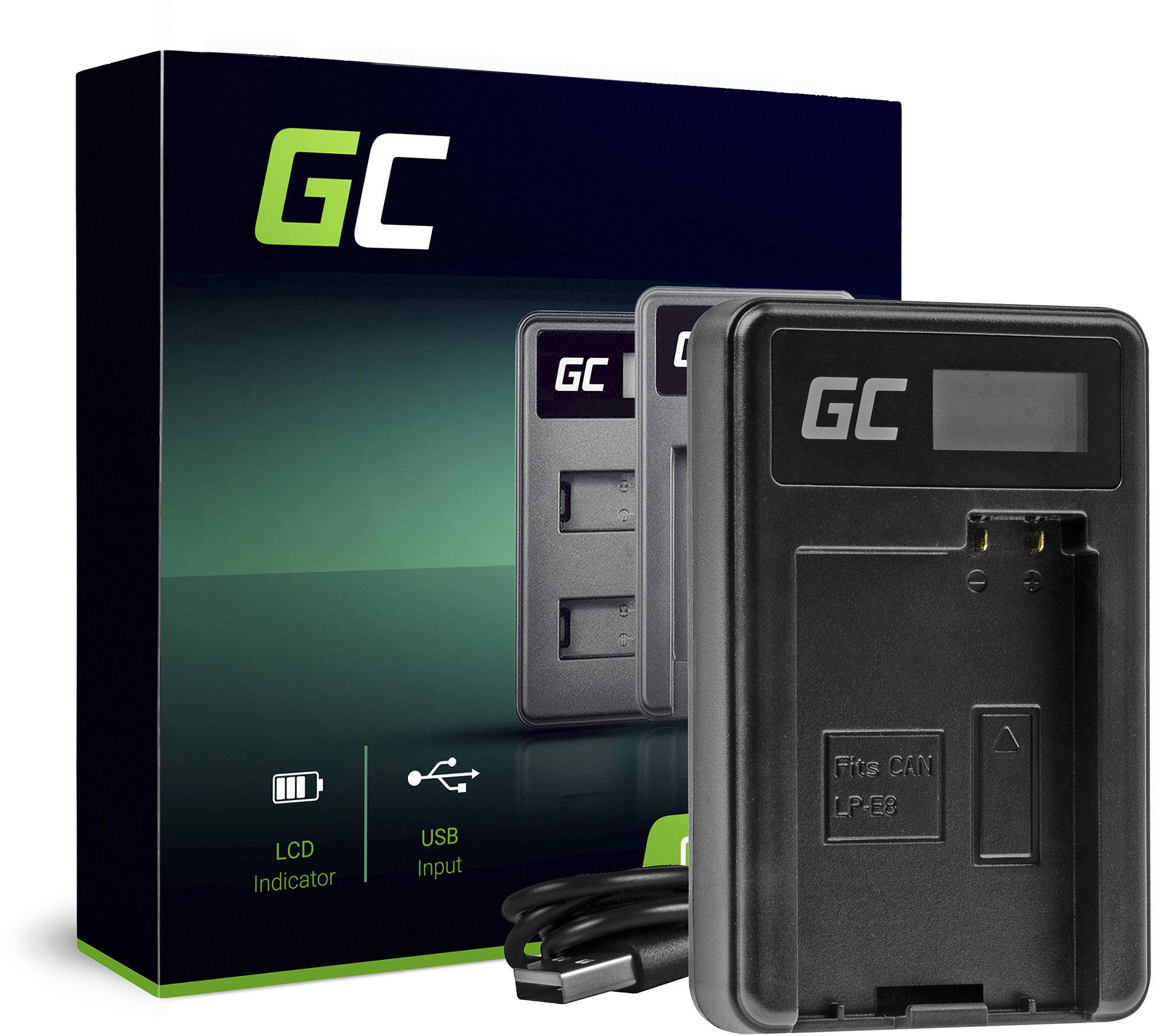 Ładowarka LC-E8 Green Cell  do Canon LP-E8, EOS Rebel T2i T3i T4i T5i EOS 600D 550D 650D 700D Kiss X4 X5 X6 (2.5W 4.8V 0.6A)