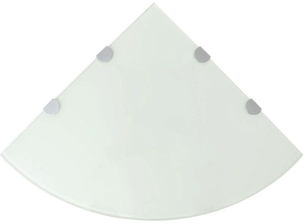 Biała półka z hartowanego szkła - Gaja 4X