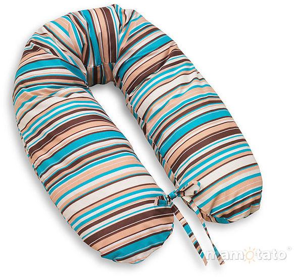 MAMO-TATO Poszewka na poduszkę dla kobiet w ciąży Paseczki brązowe