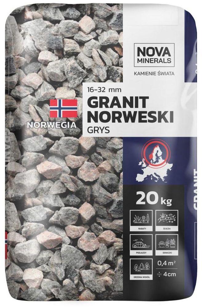 Grys GRANIT NORWESKI 20 kg 16 - 32 mm NOVA MINERALS