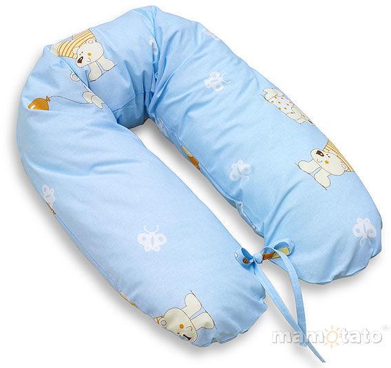 MAMO-TATO Poszewka na poduszkę dla kobiet w ciąży Baloniki błękitne