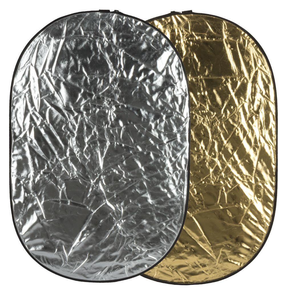 Blenda GlareOne 2w1 60x90cm srebrno złota - WYSYŁKA W 24H