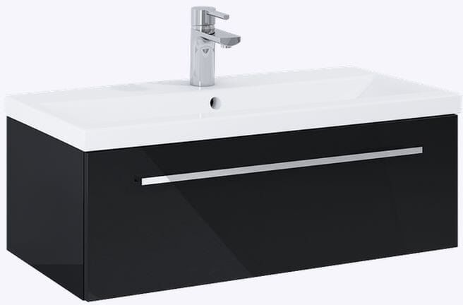 Szafka pod umywalkę 80 Kwadro Plus Black Elita (167645)