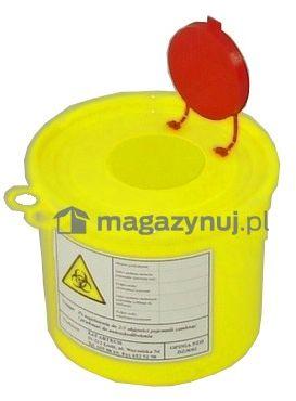 Pojemnik na odpady ostre z otworem wrzutowym, poj. 3l (Kolor czerwony)