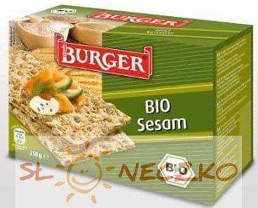Pieczywo chrupkie razowe ŻYTNIE Z SEZAMEM BIO 250g Burger