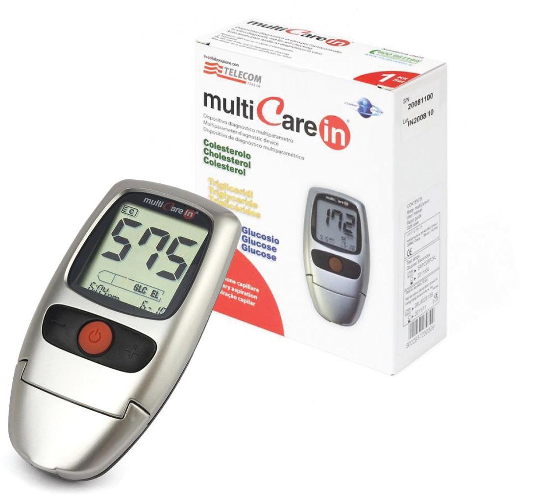 MultiCare In BSI Urządzenie do pomiaru glukozy (glukometr), cholesterolu i trójglicerydów