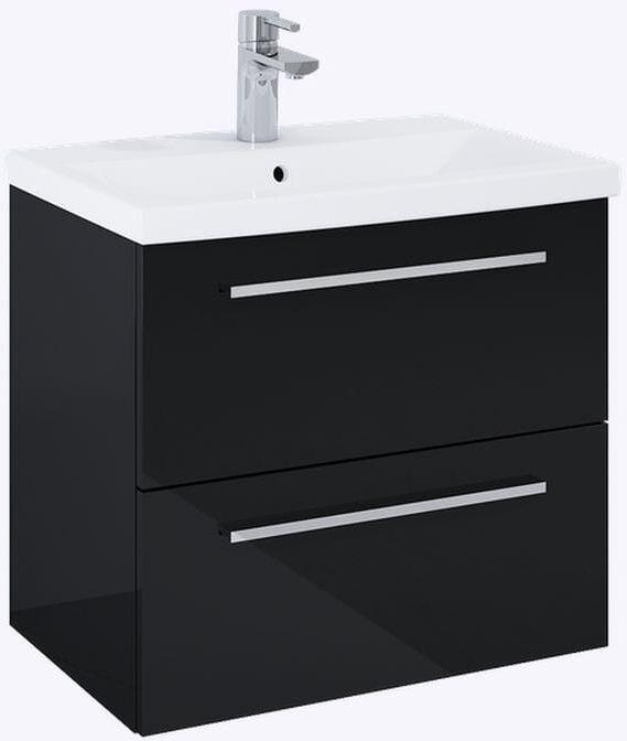Szafka pod umywalkę 60 Kwadro Plus Black Elita (167646)
