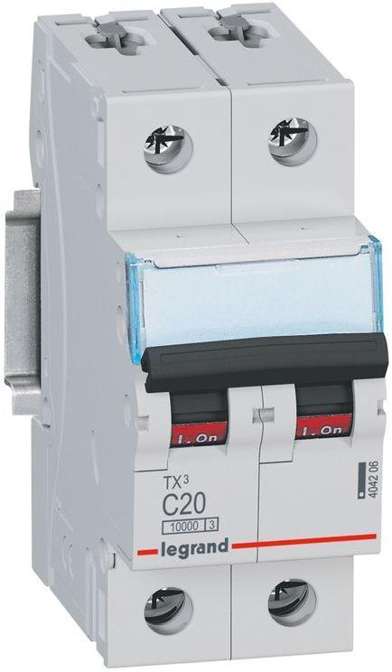 Wyłącznik nadprądowy 2P C 20A 10kA AC S312 TX3 404206
