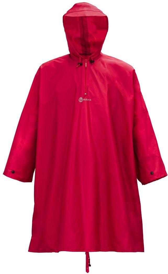Wäfo Unisex 3905 ponczo turystyczne z powłoką poliuretanową, kolor czerwony