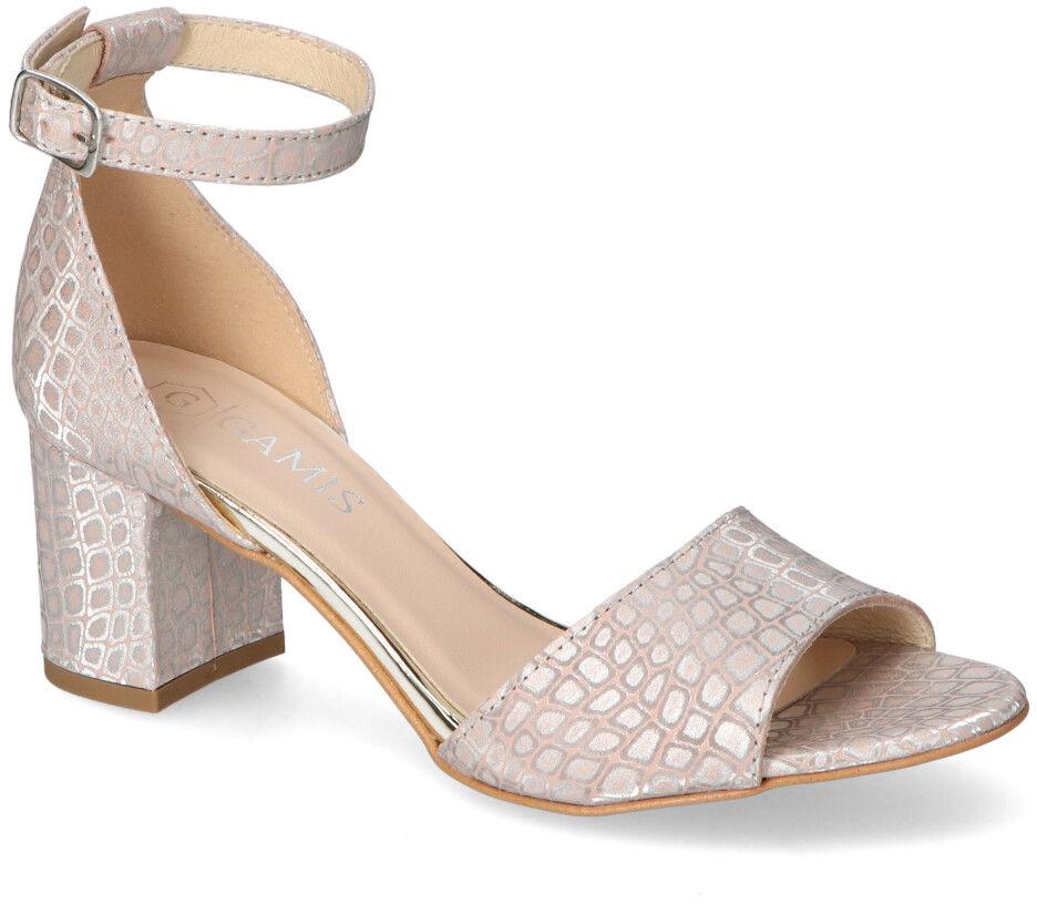 Sandały Gamis na słupku Różowe Cętki Gamis 3968/D115 Różowe Cętki