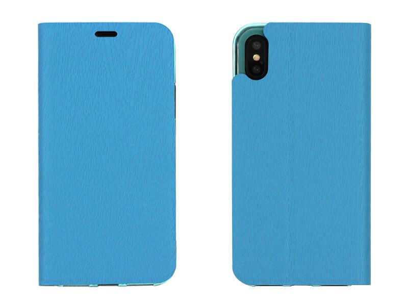 Apple iPhone X - etui na telefon Flex Book - niebieski