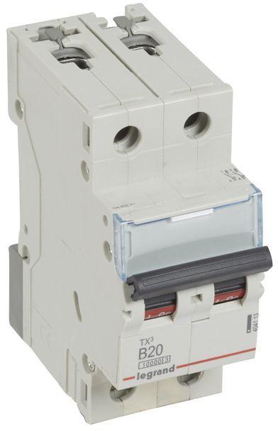 Wyłącznik nadprądowy 2P B 20A 10kA AC S312 TX3 404113