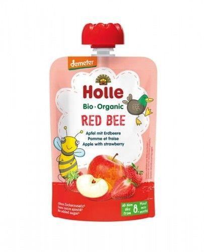 Mus Czerwona Pszczółka (Jabłko, Truskawka) 8m+, 100g Holle BIO
