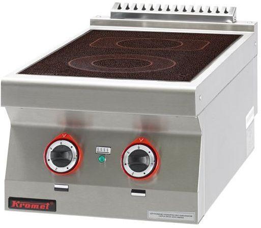 Kuchnia gastronomiczna elektryczna ceramiczna 2-polowa KROMET 700.KE-2C