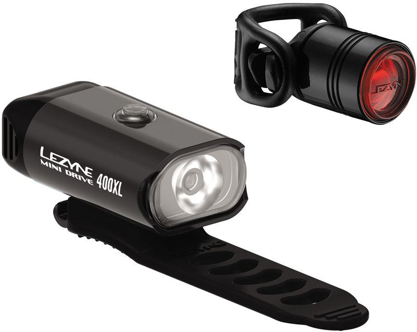 LEZYNE zestaw lampek rowerowych MINI DRIVE 400 + FEMTO DRIVE czarny LZN-1-LED-24P-V204,4712806002251