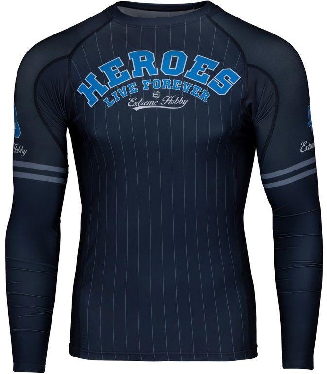 Extreme Hobby rashguard HEROES niebieski z długim rękawem