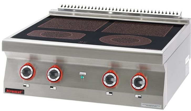 Kuchnia gastronomiczna elektryczna ceramiczna 4-polowa KROMET 700.KE-4C