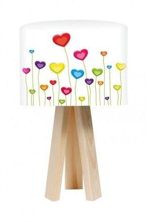 Lampa stołowa mini-trójnóg Kwitnące serca