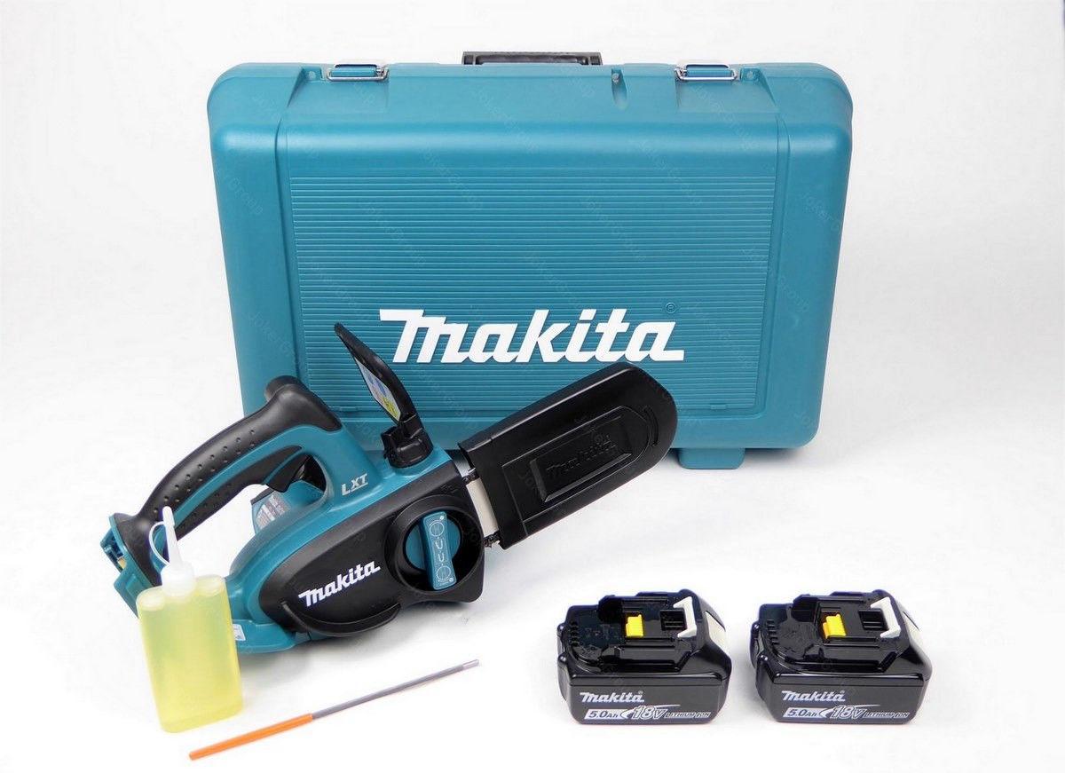 Akumulatorowa piła łańcuchowa 11,5cm do wysięgnika 18V Li-Ion 2x5,0Ah Makita [DUC122RTE]