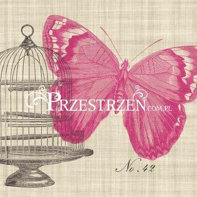 SERWETKI PAPIEROWE - Piedmont Papillon - Motyl i Klatka