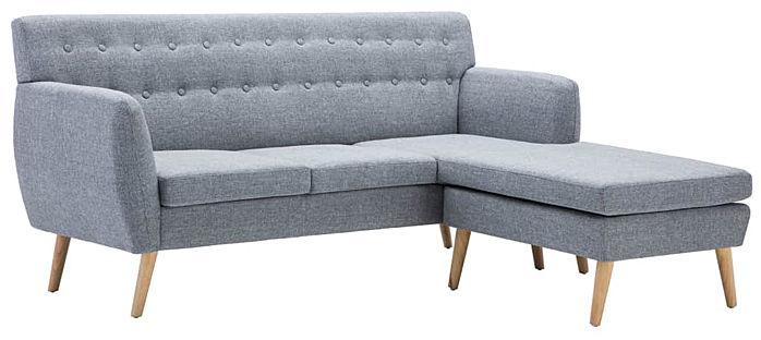 Tapicerowana pikowana sofa Larisa 2L - jasny szary