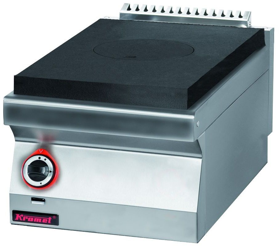 Kuchnia gastronomiczna gazowa z płytą grzewczą KROMET 700.KG/I-400