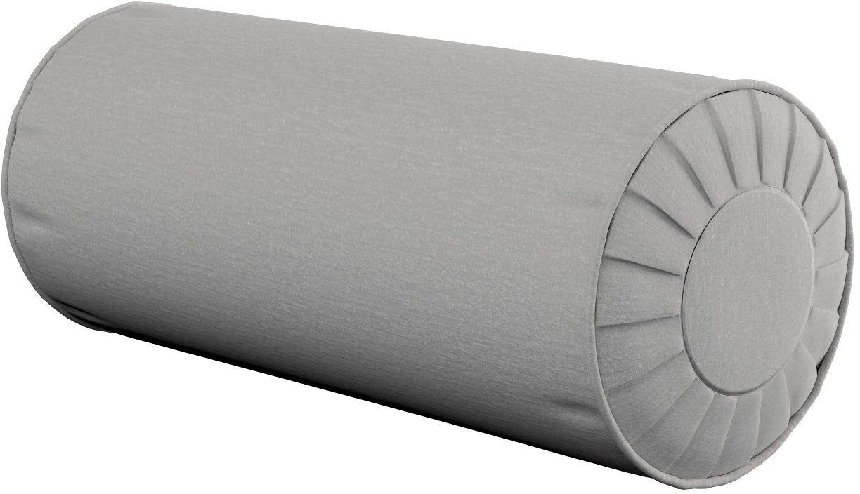 Poduszka wałek z zakładkami, szary szenil, Ø20  50 cm, Chenille