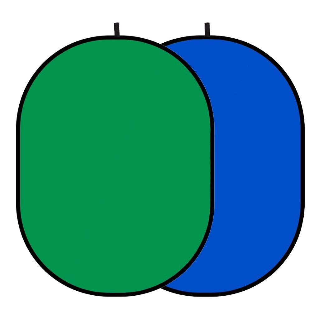 Tło składane chromakey GlareOne 2w1 zielono-niebieskie 150x200cm