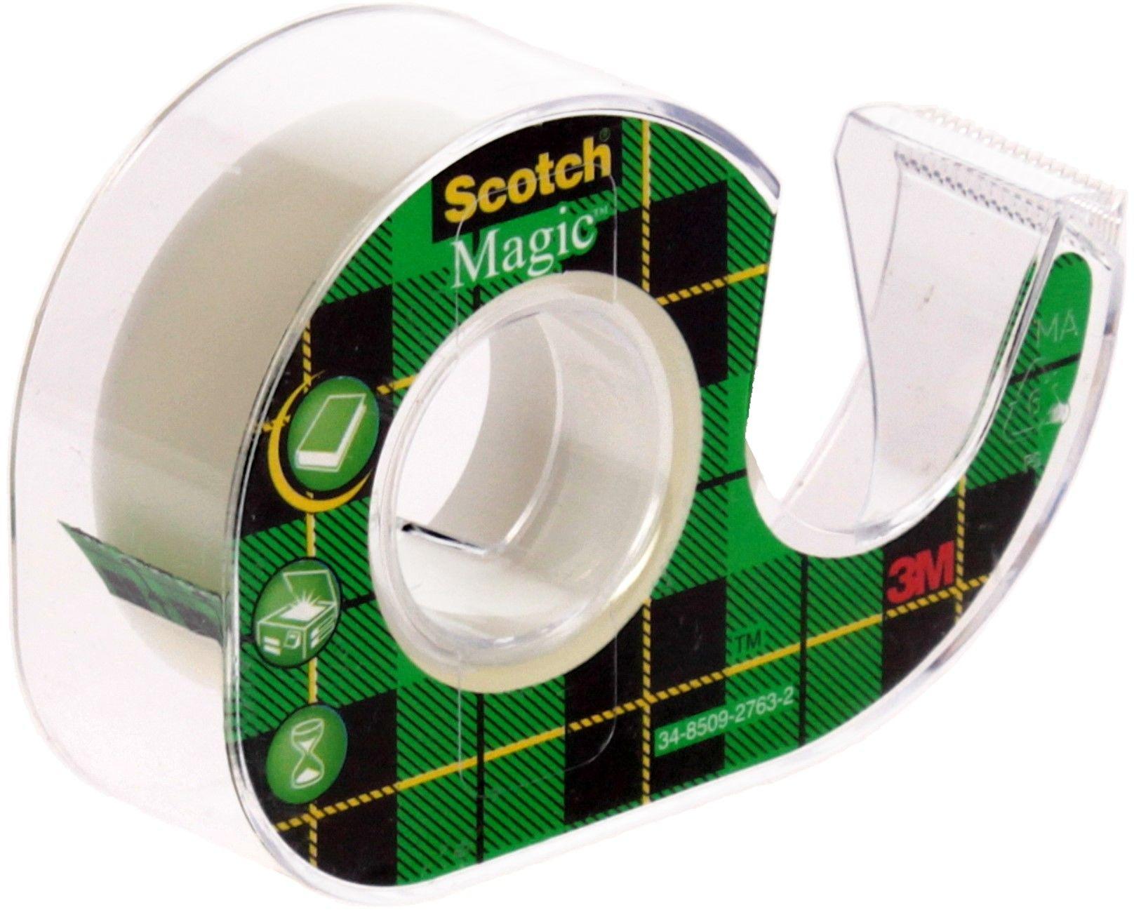 Taśma klejąca 19mmx7.5m przeźroczysta/m +podajnik Scotch