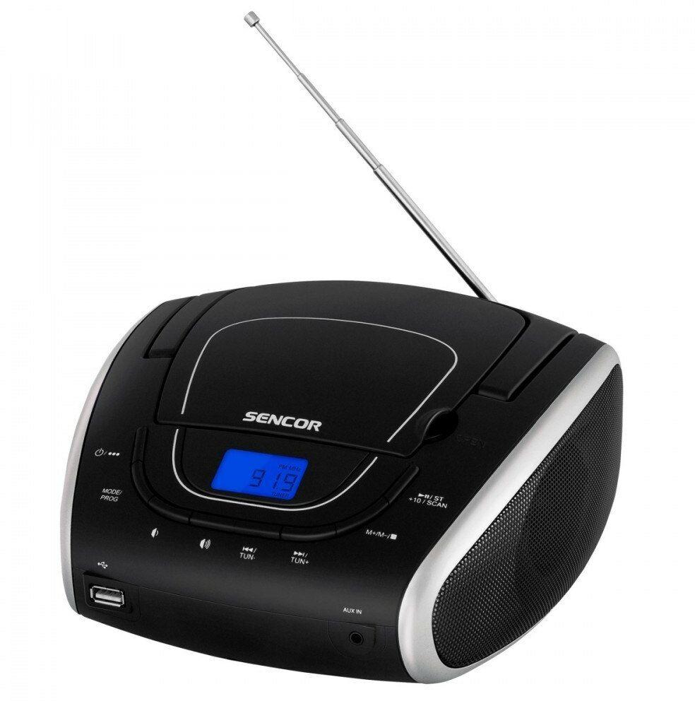 Sencor Przenośny odtwarzacz CD SPT 1600 BS, CD/MP3/USB/Radio FM