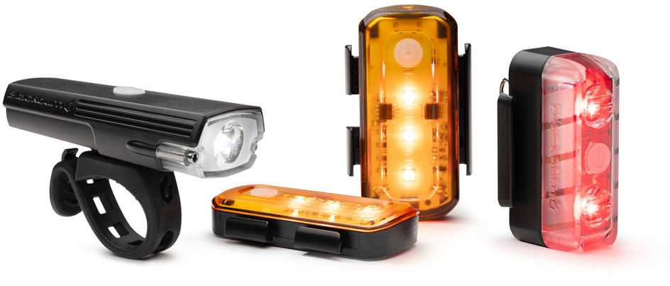 BLACKBURN zestaw lampek rowerowych LUMINATE 360 blitz przód + tył + bok,768686435157