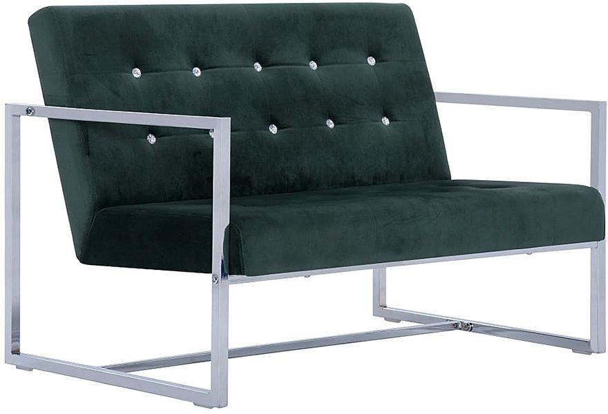 Zgrabna 2-osobowa sofa Mefir - ciemnozielona
