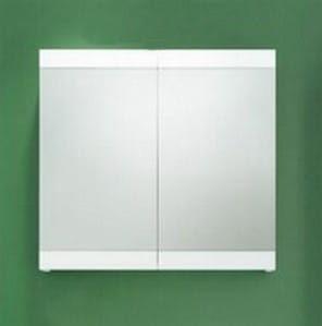 Szafka z lustrem łazienkowa, biały połysk, SERENA RETRO
