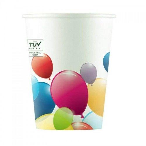 Kubeczki papierowe Latające Baloniki, biodegradowalne 8 szt.