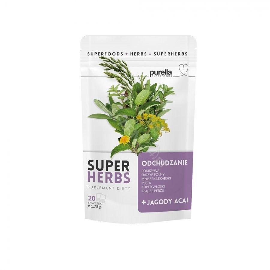 Purella SuperHerbs mieszanka ziół na odchudzanie 20 saszetek