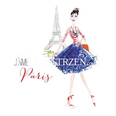 SERWETKI PAPIEROWE - City Girl Paris
