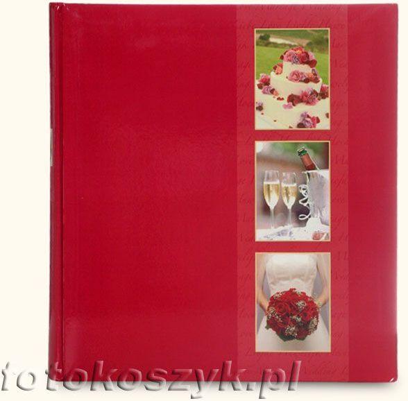 Album ślubny Henzo Fiesta Czerwona (tradycyjny 60 białych stron)