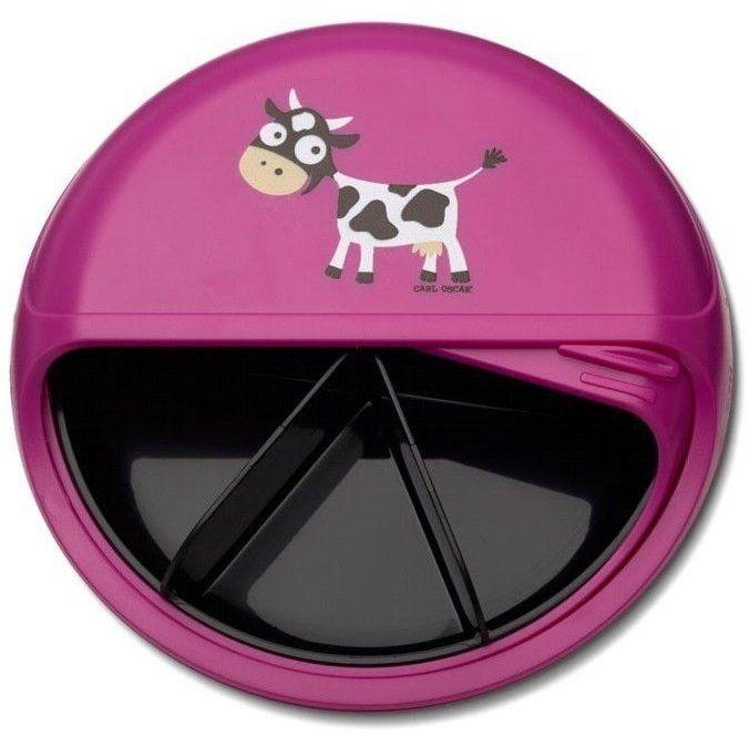 Carl Oscar Rotable Snackdisc 5 Komorowy Obrotowy Pojemnik na Przekąski Purple - Cow