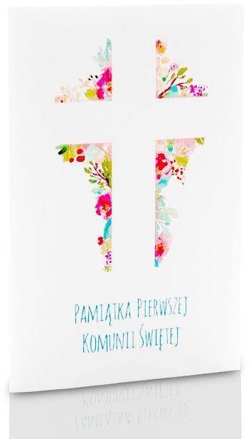 Mini-Album Komunijny TS krzyż na dwa zdjęcia 15x21