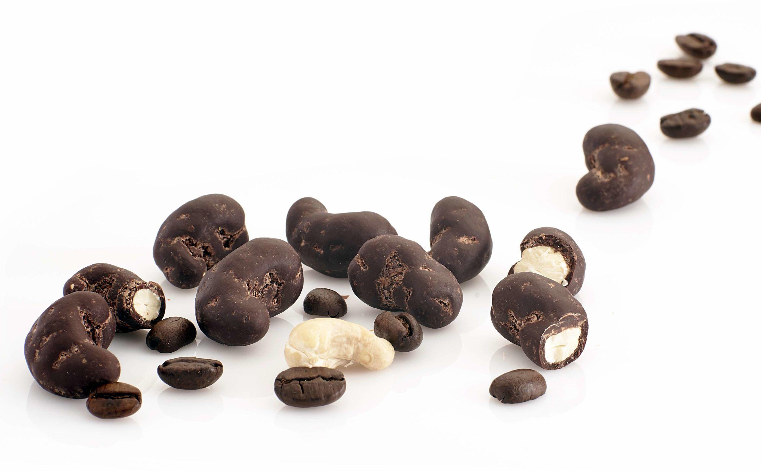 Orzechy nerkowca w ciemnej czekoladzie z kawą (na wagę) - BIO