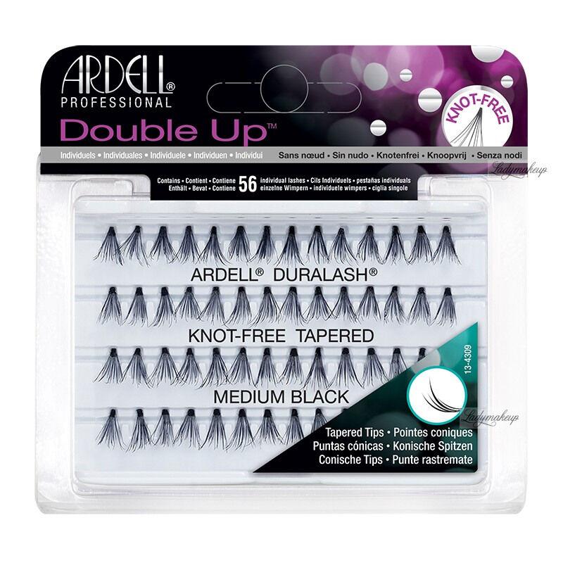 ARDELL - Double Up - Rzęsy w kępkach o zwiększonej objętości - KNOT FREE TAPERED - MEDIUM BLACK