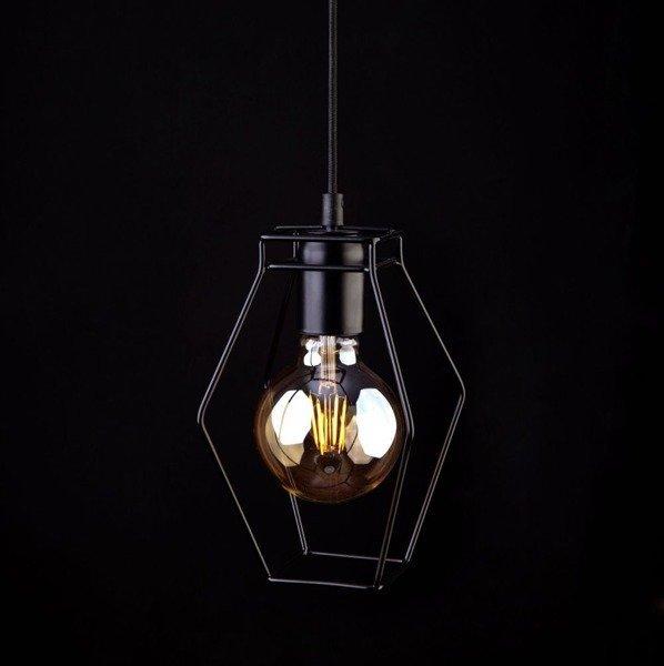Lampa vintage FIORD romb zwis 150cm 9670
