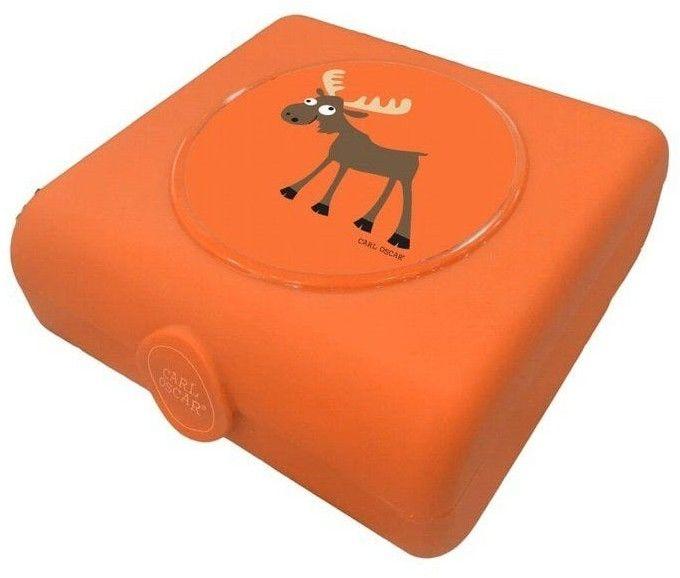 Carl Oscar Kids Sandwich Box Pojemnik na Przekąski i Kanapki Orange - Moose