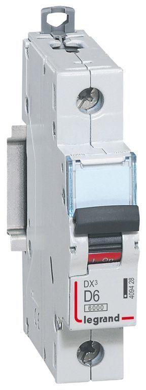 Wyłącznik nadprądowy 1P D 6A 10kA AC S311 DX3 409428