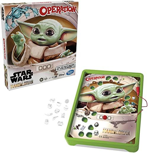 """Gra operacyjna: Star Wars The Mandalorian Edition Board Game for Kids Ages 6 and Up, The Child who fans call """"Baby Yoda"""" is Causing Mischief (wersja angielska)"""