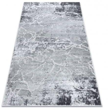 Dywan MEFE nowoczesny 6182 Beton - Strukturalny, dwa poziomy runa szary 80x150 cm