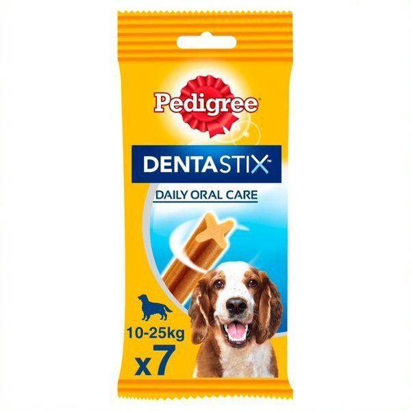 Pedigree Dentastix Rasy Średnie(10-25 kg) 7 szt. - przysmak dla psów rasy średniej 7szt Dostawa GRATIS od 95 zł + wymiana punktów na rabaty!