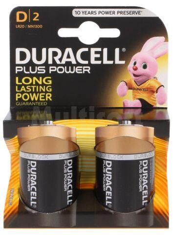 Bateria alkaliczna 1,5V D DURACELL PLUS 2szt.