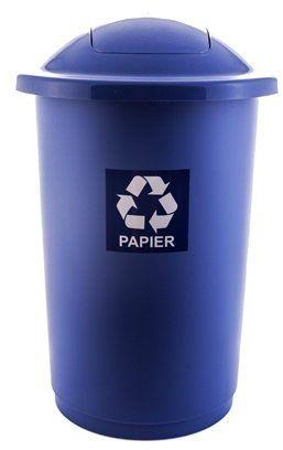 Kosz do segregacji odpadów TOP BIN 50L niebieski