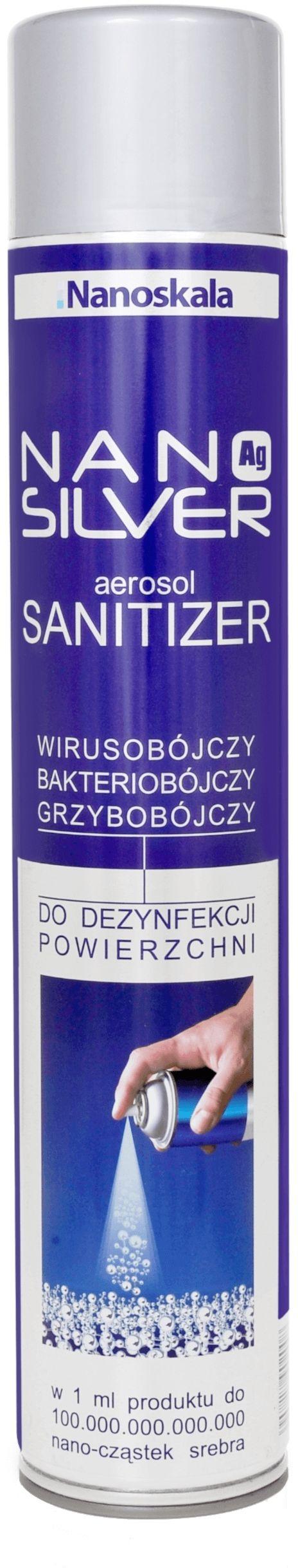 NANO SILVER aerosol SANITIZER 125 ml spray do dezynfekcji przeciwwirusowej